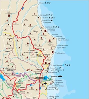 Karte Sardinien Strände.Die Strände Von Baunei Santa Maria Navarrese Sardinien Santa Maria